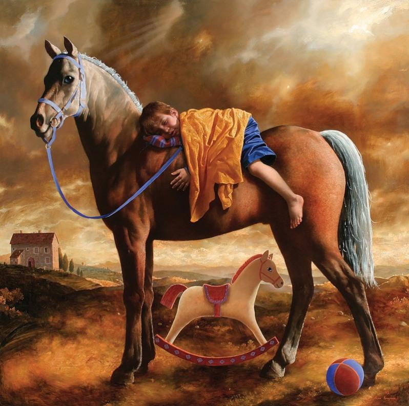 He vencido al ángel del sueño. Pintura de Arsen Kurbanov