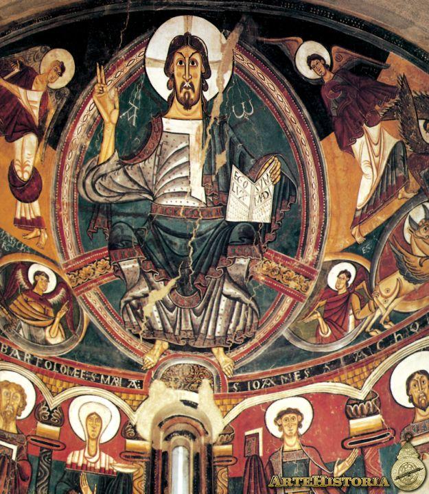 Fresco del pantocrator. Lo divino en el románico