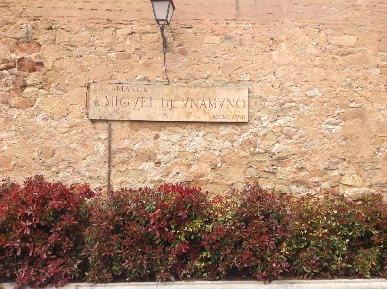 placa de Unamuno