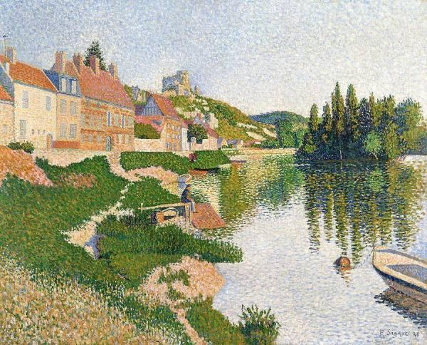 """La pintura de los días por Demetrio Reigada: Hoy con Paul Signac, en """"La orilla del río"""""""