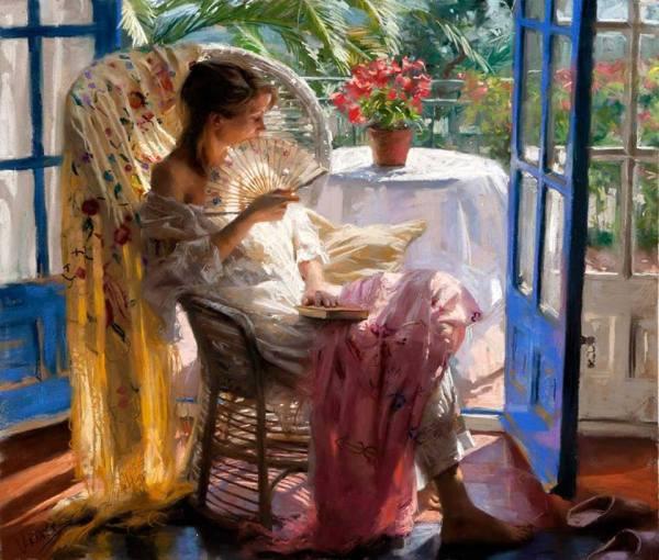 La pintura de los días por Demetrio Reigada: Hoy Vicente Romero Redondo o la belleza de la figura femenina y la magia de la luz