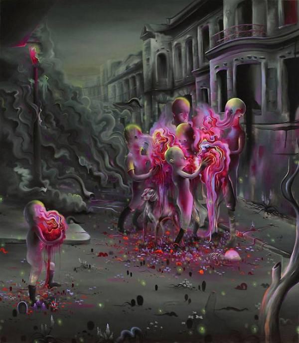 La pintura de los días por Demetrio Reigada: Hoy los paisajes oníricos y surrealistas  de Michael Page