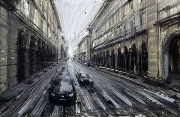 La pintura de los días por Demetrio Reigada:  Hoy, la belleza perdida de la vida urbana que marca Valerio D'Ospina