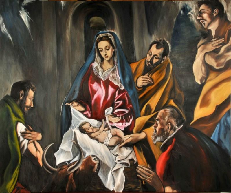 La adoración del los Pastores Reinterpretación del Greco