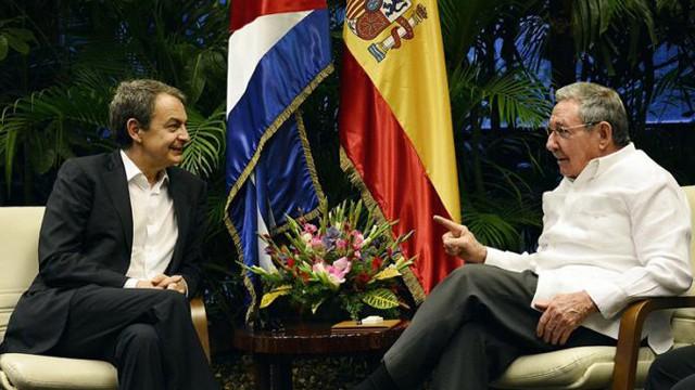 Zapatero con Castro