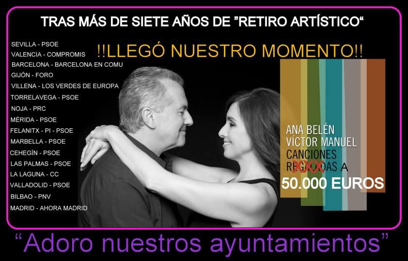 El momentazo de Ana Belén y Víctor Manuel