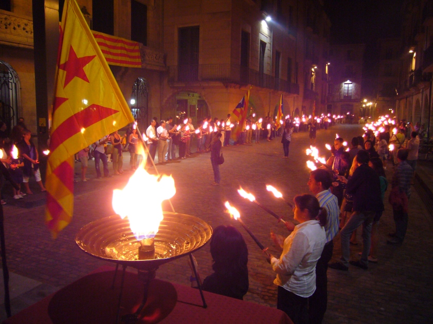 manifestación fascista en Cataluña