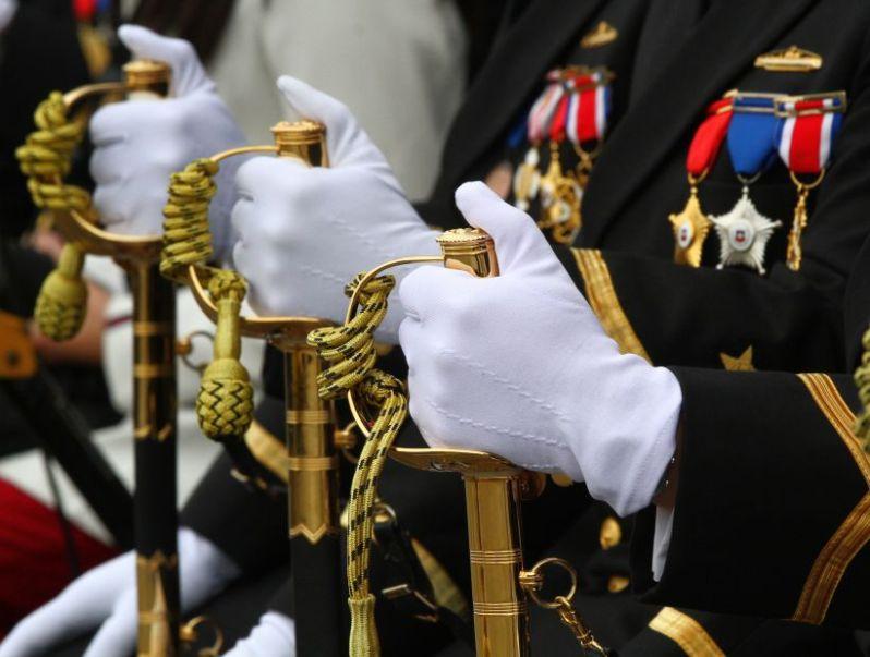 Detalle desfile Fuerzas Armadas 2015