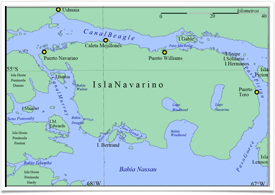 Mapa Isla Navarino