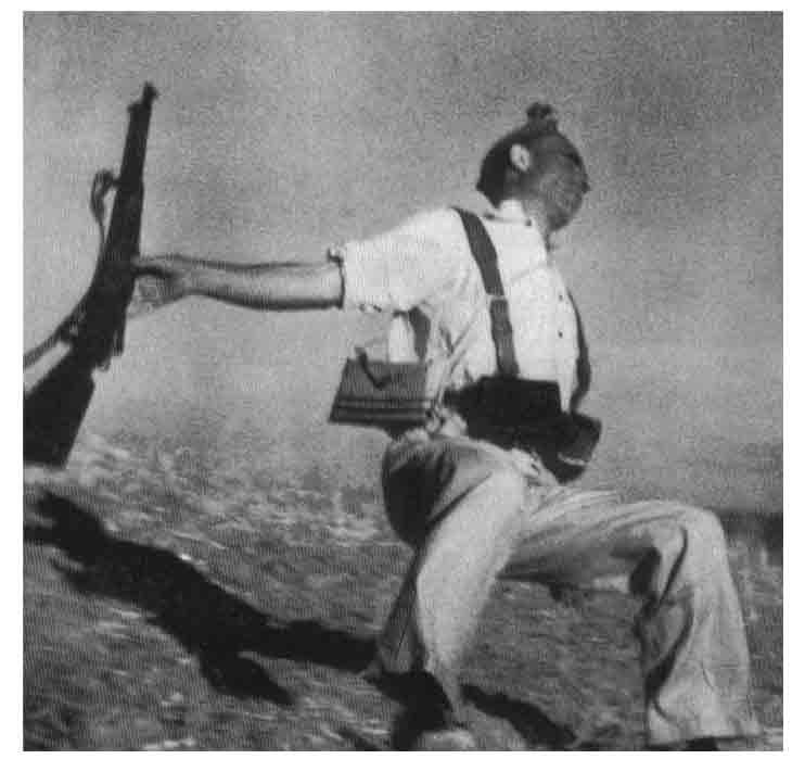 Federico Borrell, El Taino, el miliciano que el fotógrafo Robert Capa inmortalizó en la instantánea que se convirtió en el icono de la Guerra Civil Española