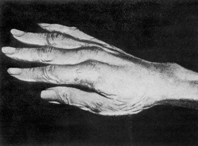 Molde de la mano defecha de Paganini