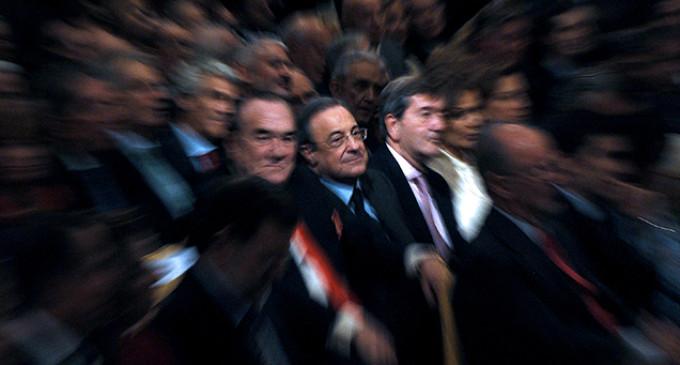 Florentino Pérez en el Palco del Bernabeu