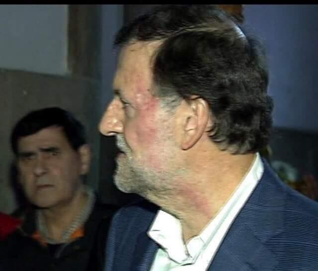 Rajoy herido