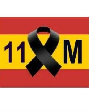crespón negro bandera de España