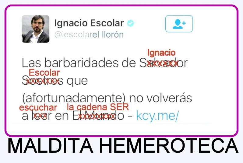 Ignacio Escolar, maldita hemeroteca