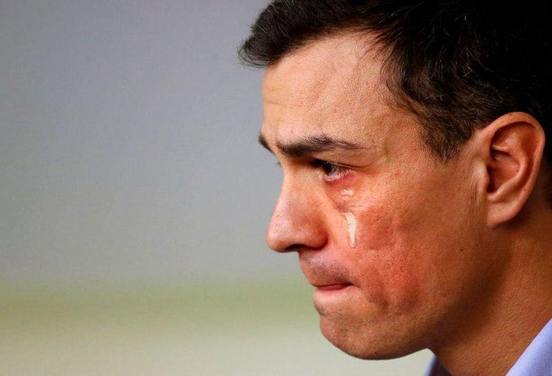 Pedro Sánchez el llorón