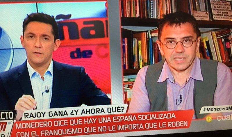 Monedero dice que esa España  no formada y mayor le dio el triunfo al PP