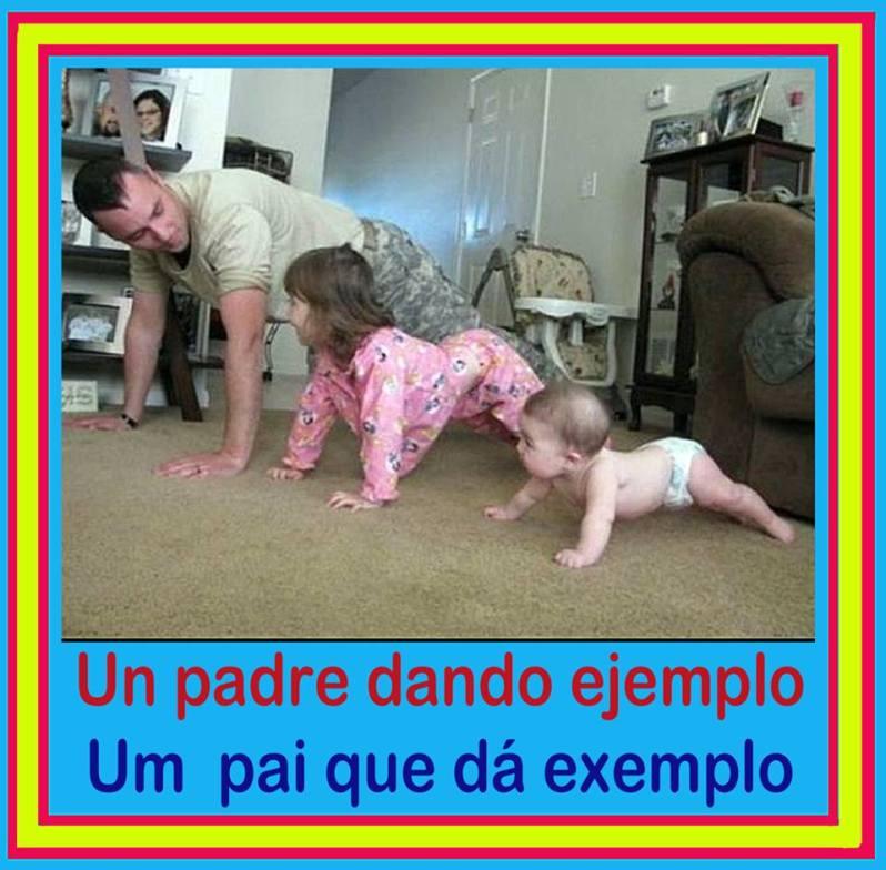 Un padre dando ejemplo