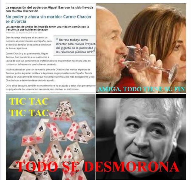 CARME CHACÓN Y MIGUEL BARROSO SE DIVORCIAN, FERRERAS TIC TAC TIC TAC