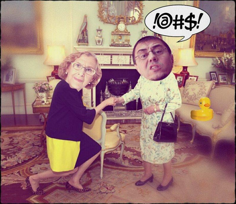 Carmena visita a la reina madre de Podemos para que no la echen de la alcaldía
