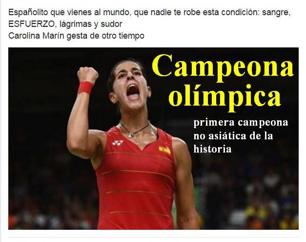 Carolina Martín, campeona olímpica