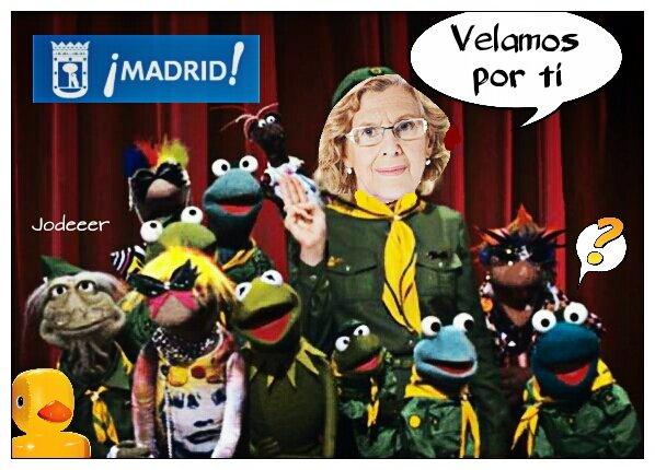 Foto promocional del gobierno municipal de Madrid. Alcaldesa y concejales siempre velando por nuestro bien