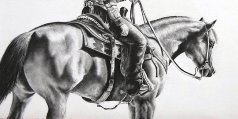 jinete dibujo de caballo