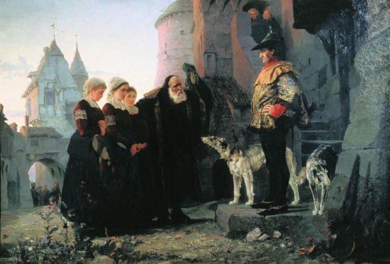 El derecho del señor (Vasily Polenov, 1874)