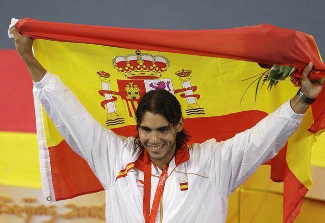 Nadal y la bandera de España