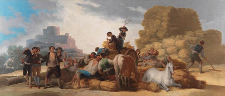 La era, o El Verano. Francisco de Goya y Lucientes. 1786. Óleo sobre lienzo, 276 x 641 cm.